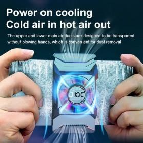 Willkey Smartphone Cooling Fan Kipas Pendingin Radiator Heat Sink USB Type C - F18 - Black - 2