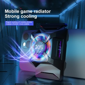 Willkey Smartphone Cooling Fan Kipas Pendingin Radiator Heat Sink USB Type C - F18 - Black - 3
