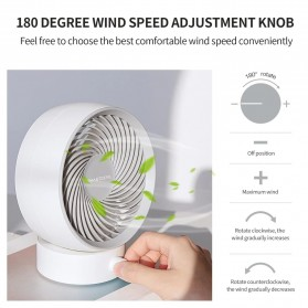 SMARTDEVIL Kipas Angin Meja USB Strong Wind - 330 - White