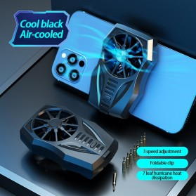 Lamorniea Smartphone Cooling Fan Kipas Pendingin Radiator Heat Sink Rechargeable - GT05 - Black