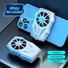 Lamorniea Smartphone Cooling Fan Kipas Pendingin Radiator Heat Sink Rechargeable - GT05 - White