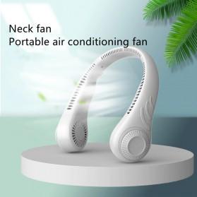 SOMEG Kipas Angin Leher Portable Sports Leafless Neck Fan USB - FA12 - White