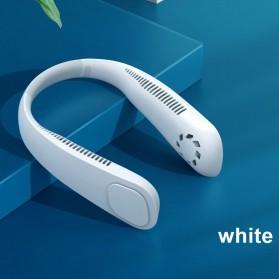 iHoven Kipas Angin Leher Portable Sports Leafless Neck Fan USB - KF3 - White