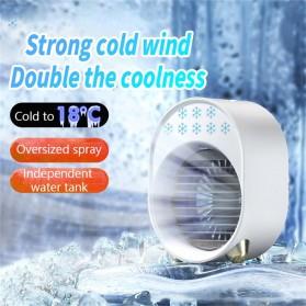 OLOEY Kipas Cooler Pendingin Ruangan Mini AC Arctic LED RGB 500ml - A208 - White