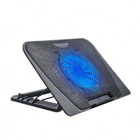NAJU Notebook Cooler Pad Laptop Ultra Thin Radiator Cooling Base - N151 - Black