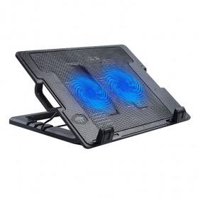 NAJU Notebook Cooler Pad Laptop Ultra Thin Radiator Cooling Base - N182 - Black