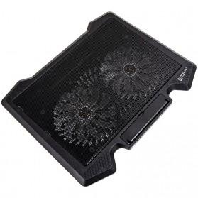 NAJU Notebook Cooler Pad Laptop Ultra Thin Radiator Cooling Base - S200 - Black