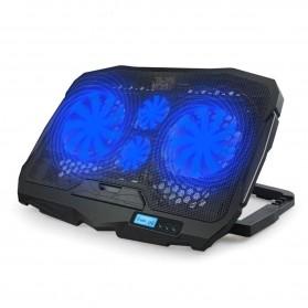 NAJU Notebook Cooler Pad Laptop Ultra Thin Radiator Cooling Base - S18 - Black