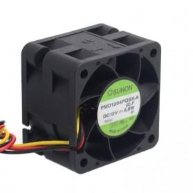 SUNON Kipas Server High Speed Fan 12V 6.8W 4CM- PMD1204PQBX-A - Black