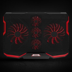 ICE COOREL Cooling Pad Laptop Stand 5 Kipas - A2 - Black/Red - 1