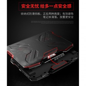 ICE COOREL Cooling Pad Laptop Stand 5 Kipas - A2 - Black/Red - 5