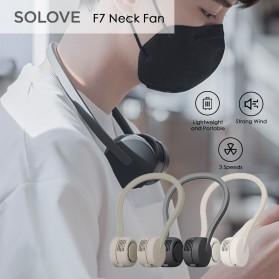 SOLOVE Kipas Angin Leher Portable Mini Hanging Neck Fan USB - F7 - Black
