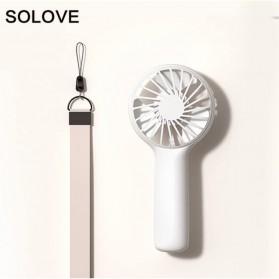 SOLOVE Kipas Angin Genggam Portable Handheld Mini Fan USB - F6 - White