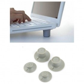 Stand Laptop Portable Pendingin 4PCS - Gray