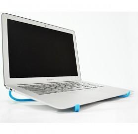 V-tie Holder Stand Laptop Portable Bahan Plastik - Black - 3