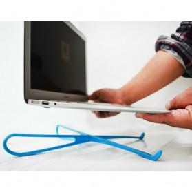 V-tie Holder Stand Laptop Portable Bahan Plastik - Black - 4
