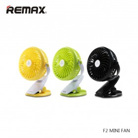 Remax Clip Rechargeable USB Mini Fan - F2 - Black