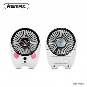 Kipas Angin Mini Kartun USB Rechargeable Mini Fan Portable - F6 - White