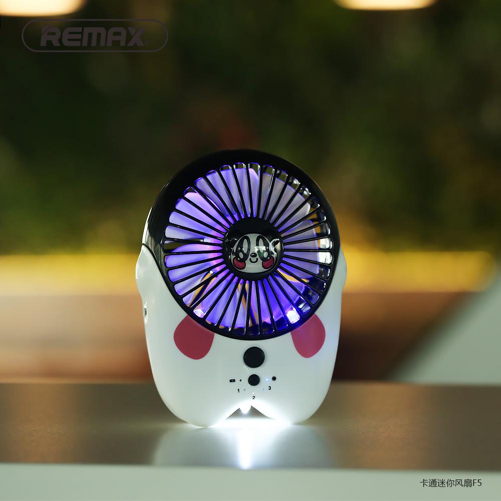 Remax Kipas Angin Mini Kartun Usb Rechargeable Fan Portable F6 White 3