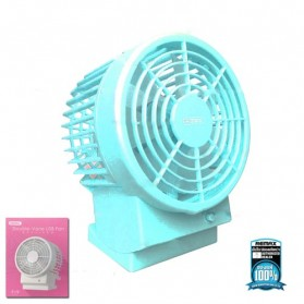Remax Kipas Angin USB Double Fan  - F19 - Blue