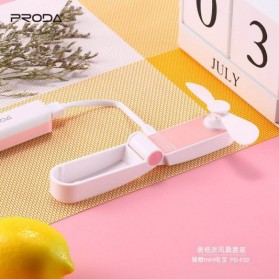PRODA OGGPIE Series USB Mini Fan + Power Bank 2600mAh - PD-F02 - Pink