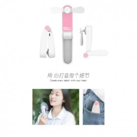 PRODA OGGPIE Series USB Mini Fan + Power Bank 2600mAh - PD-F02 - Pink - 6