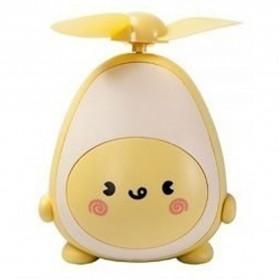 Proda Kipas Angin Mini Fan Avocado USB Rechargeable - PD-F03 - Yellow