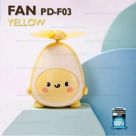 Proda Kipas Angin Mini Fan Avocado USB Rechargeable - PD-F03 - Yellow - 2