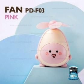 Proda Kipas Angin Mini Fan Avocado USB Rechargeable - PD-F03 - Pink - 2