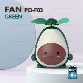 Proda Kipas Angin Mini Fan Avocado USB Rechargeable - PD-F03 - Green - 2