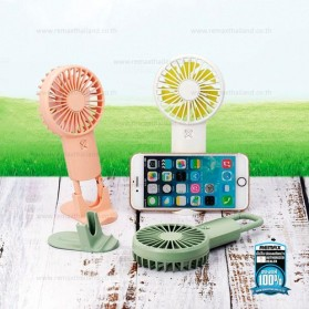Remax Life Kipas Angin Mini Fan Handheld Portable USB Rechargeable - RL-FN33 - Pink - 2