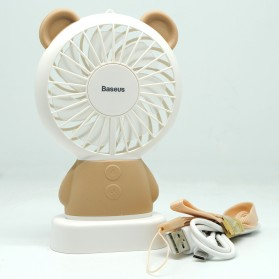 Baseus Kipas Angin Portable dengan LED model Bear - CXBER-04 - Brown