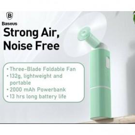 Baseus Kipas Angin USB Portable Mini Cooling Fan with Powerbank 2000mAh - CXZD-B02 - White - 4