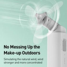 Baseus Kipas Angin USB Portable Mini Cooling Fan with Powerbank 2000mAh - CXZD-B02 - White - 5