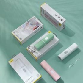 Baseus Kipas Angin USB Portable Mini Cooling Fan with Powerbank 2000mAh - CXZD-B02 - White - 7