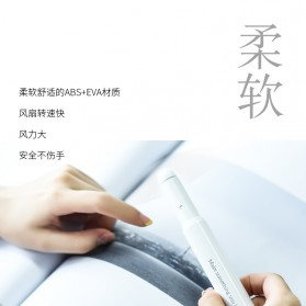 HOCO F6 Kipas Angin Mini Portable Handheld - White - 2