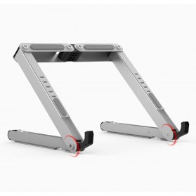Meja Laptop / Notebook - BUBM N1 Adjustable Foldable Laptop Stand Aluminium - DNZJ-02 (ORIGINAL) - Silver