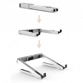 BUBM N1 Adjustable Foldable Laptop Stand Aluminium - DNZJ-02 (ORIGINAL) - Silver - 6