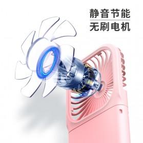 BUBM Kipas Angin USB Genggam Portable with Powerbank 3000mAh - F20 - Blue - 3