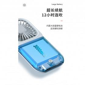 BUBM Kipas Angin USB Genggam Portable with Powerbank 3000mAh - F20 - Blue - 9