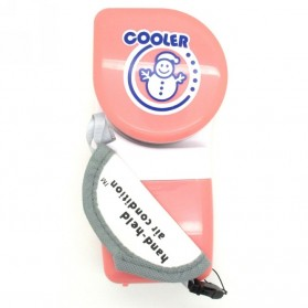 Handheld Mini Portable Air Conditioner USB Fan - Pink