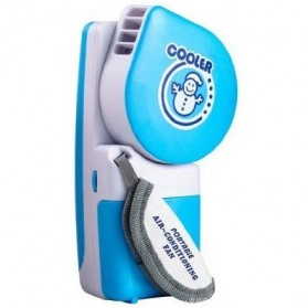 Handheld Mini Portable Air Conditioner USB Fan - Blue