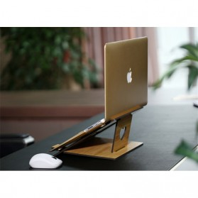 Fashion Wood Style Portable Laptop Stand - MR-666 - Brown - 2