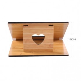 Fashion Wood Style Portable Laptop Stand - MR-666 - Brown - 7