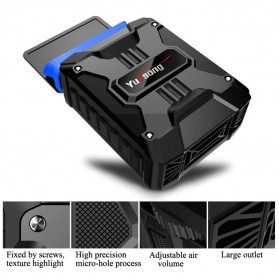 Taffware Universal Laptop Vacuum Cooler - V6 - Black - 12