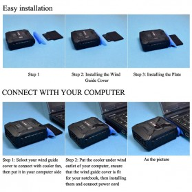 Taffware Universal Laptop Vacuum Cooler - V6 - Black - 15