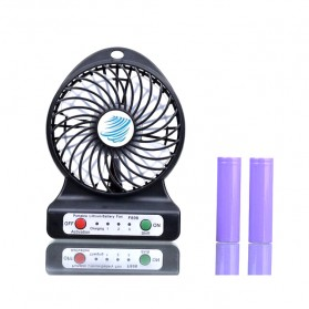 Multifunction USB Mini Fan + Power Bank 6000mAh - Black