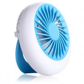 Exqusite Rechargeable Handle Mini Portable Fan / Kipas Mini Genggam - Blue
