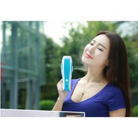 Portable Handheld Mini Beauty Replenishment Fan with Water Spray - 20160401 - Blue - 8