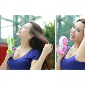 Portable Handheld Mini Beauty Replenishment Fan with Water Spray - 20160401 - Blue - 9